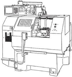 付図2 くし形刃物台旋盤(2114)