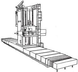 付図15 床上形横中ぐり盤(4112)