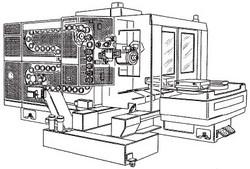 付図46 横形マシニングセンタ(C24)