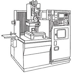 ワイヤ放電加工機の参考図